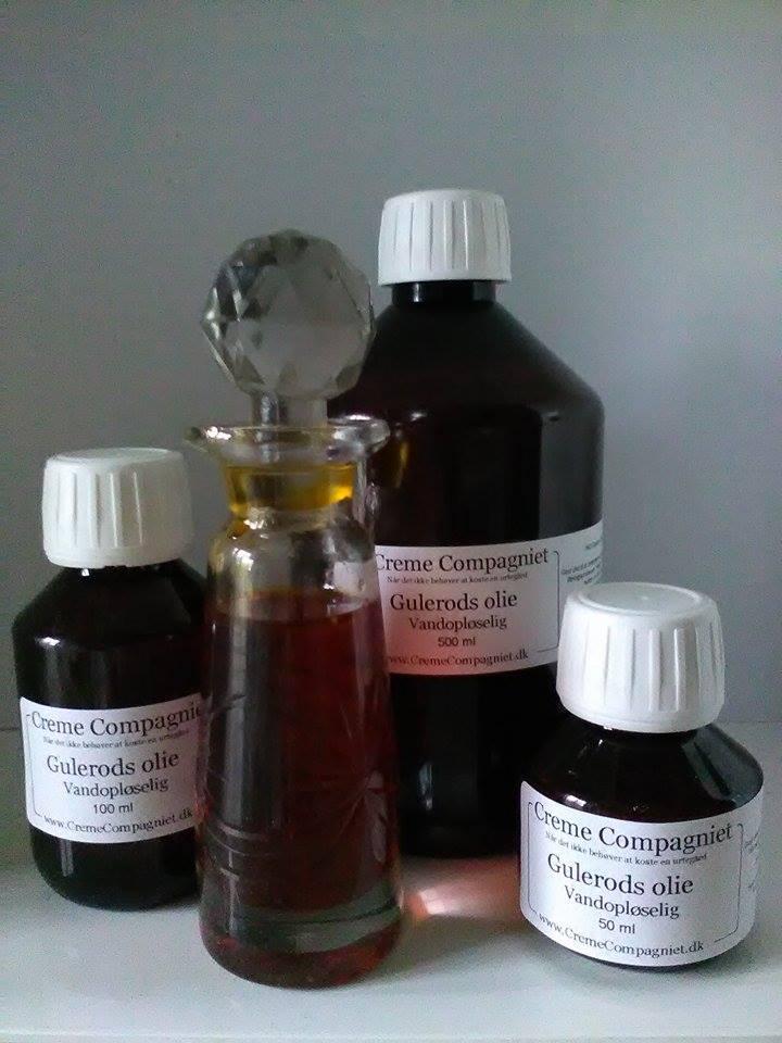 Gulerodsolie vandopløselig