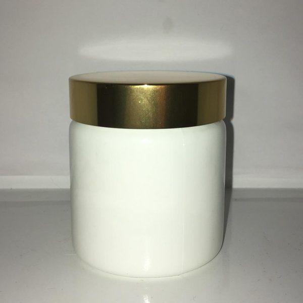 120 ml Opal glaskrukke med guldlåg