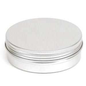 100 ml alu krukke med rillede kanter