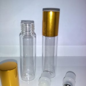 15 ml glas roll on med guldlåg