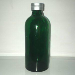 100 ml grøn glasflaske