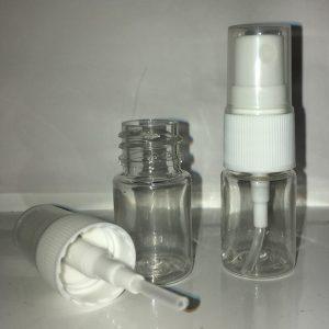 5 ml Plastflaske med hvid spray