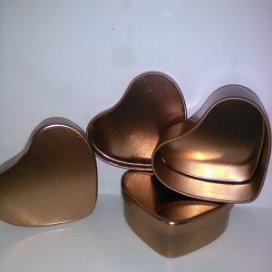 50 ml tin hjerte i rose guld