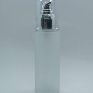 50 ml frosted glasflaske med pumpedispenser