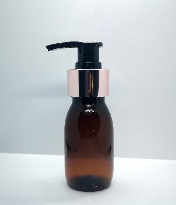 50 ml brun plastflaske med pumpe