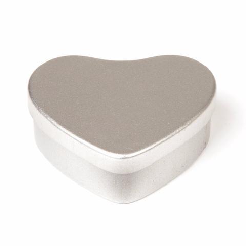 20 ml tin hjerte sølv