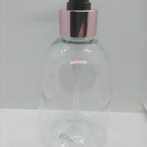 200 ml klar plastflaske med pumpe i roseguld