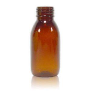 100 ml brun plastflaske 28/410