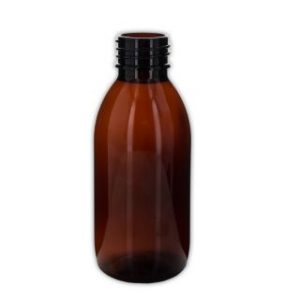 150 ml brun plastflaske 28/410