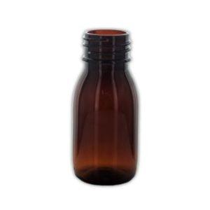 50 ml brun plastflaske 28/410